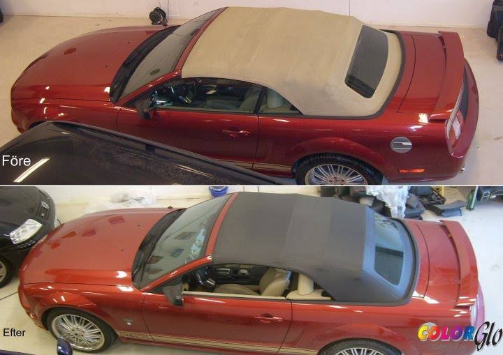 Color Glo Sweden convertible top color change