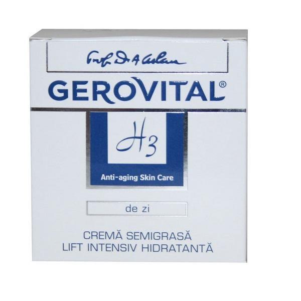 Crema Lift Intensiv Hidratanta de Zi, Gerovital H3 - http://www.carlisa.ro/274~Produse-Cosmetice-Anti-Rid/284~Creme-de-fata-Antirid/1518-Crema-Lift-Intensiv-Hidratanta-de-Zi--Gerovital-H3.html