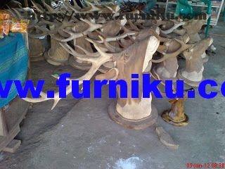 many size deer head sculpture