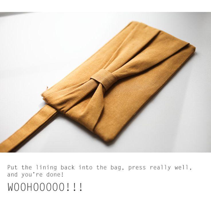 ELM STREET LIFE: DIY: Bow clutch sewing tutorial.