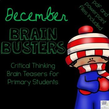 Do you find your homeroom periods to be hectic?  Are your students trying to get your attention, speaking too loudly, or not participating in the morning routine like you would like them to?  Do you have to juggle attendance, homework, lunch money, and notes from home? If you have answered yes to any of these, December Brain Busters are exactly what you need!