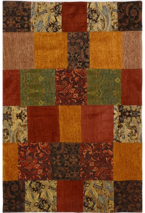 Patchwork Indian rug. Wool. Flat Woven. 122 x 183 http://www.rugman.com/indian-patchwork-design-oriental-area-rug-small-size-wool-multi-color-rectangle-200-15545