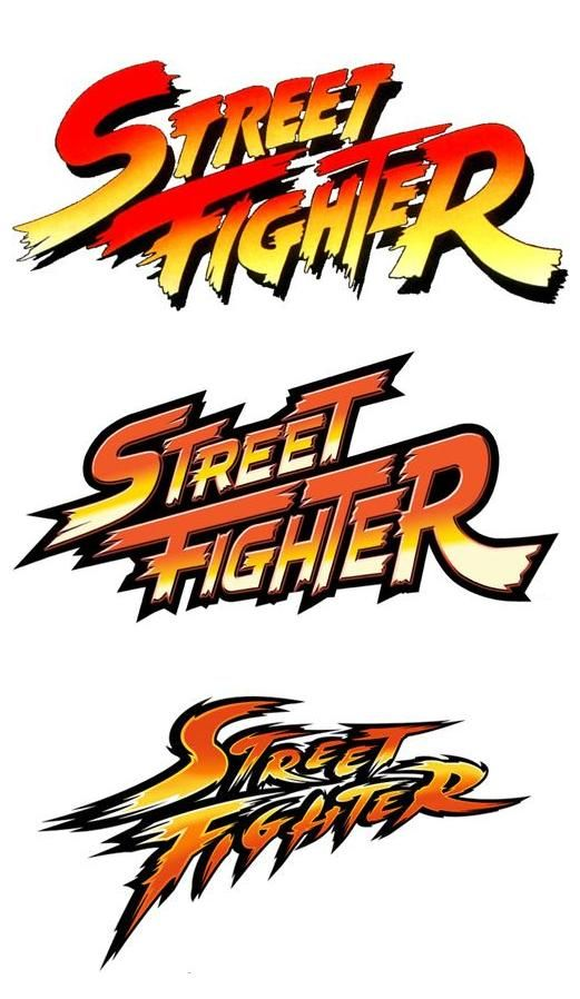 Street Fighter text logos