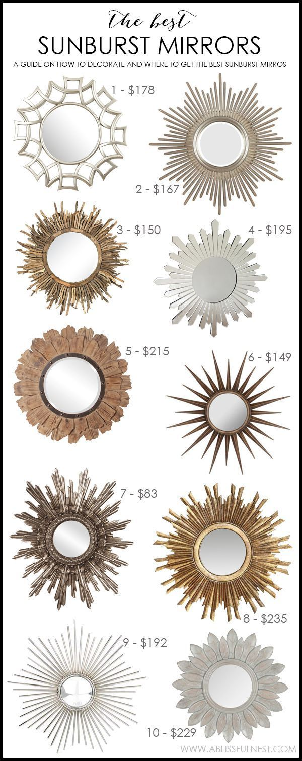 The BEST Sunburst Mirrors & A Guide On How To Decorate With Them by A Blissful Nest