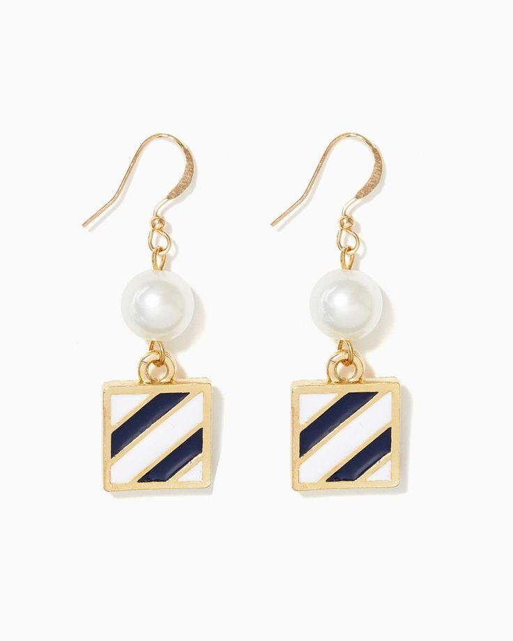 charming charlie | Square Sailor Stripe Earrings | UPC: 410007429306 #charmingcharlie