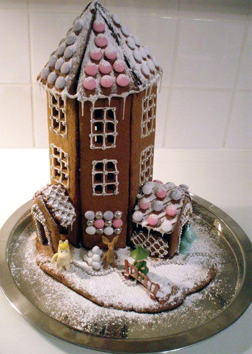 House of the Moomin by rrefushion.deviantart.com on @deviantART - Gingerbread Moomin house!