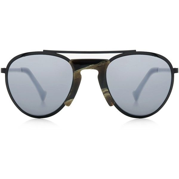 Grey Ant - Pete's Hotel Aviator Sunglasses (515 AUD) ❤ liked on Polyvore featuring accessories, eyewear, sunglasses, grey ant glasses, grey ant, aviator glasses, aviator sunglasses and aviator style sunglasses