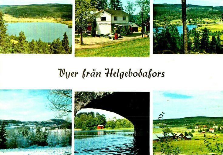 Värmland Eda kommun Helgebodafors 6-bilders kort 1950-talet