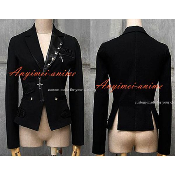 >> Click to Buy << Free Shipping Gothic Lolita Punk Sweet Fashion Coat Black Jacket Small Leisure Suit Cosplay Costume Custom-Made #Affiliate
