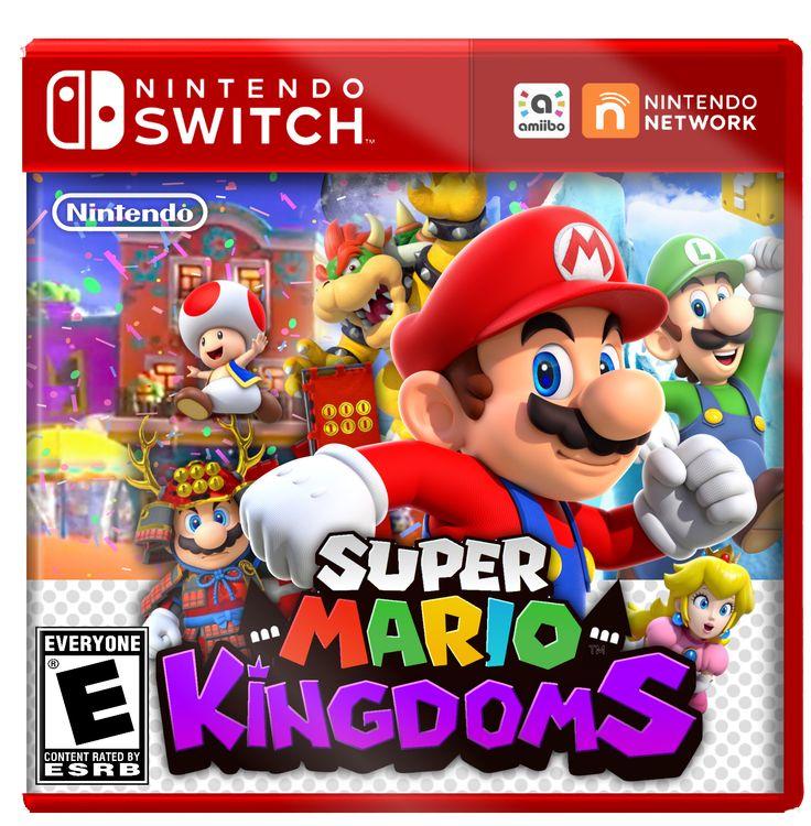 Nintendo Switch Boxart MockUp Super Mario Kingdoms by