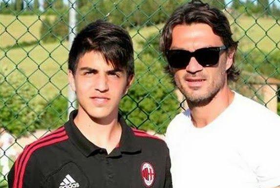 Third generation Maldini trains with Milan first-team