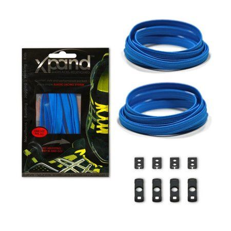 Xpand No Tie Shoelaces System with Elastic Laces, One Size Fits All, Adult and Kids Shoes, True Blue, Men's