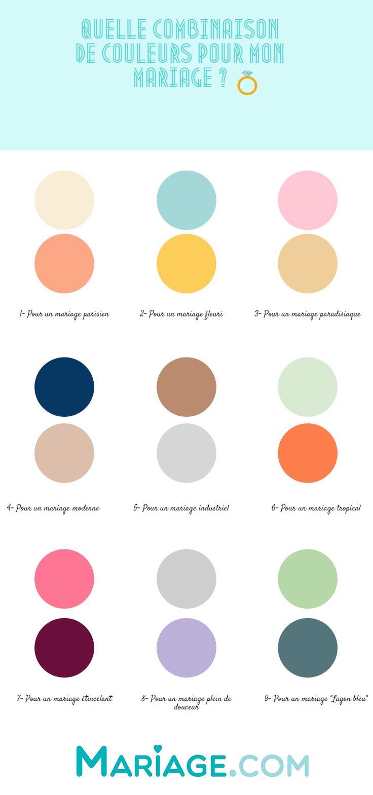 Choisir les couleurs de sonmariage, ce n'est pas une mince affaire ! Turquoise et jaune, or et argent ou encore cuivre et pêche, vous...