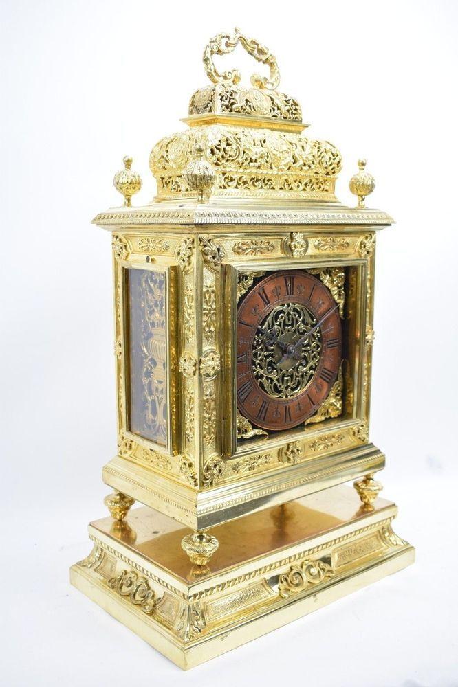 Imposante Vergoldete Bronzependule Kaminuhr Mit Konsole Lerolle A Paris Um 1870 Kaminuhren Vintage Uhren Antike Wanduhren