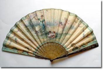 Loves of Marie Dumas, a Duvelleroy fan circa 1890