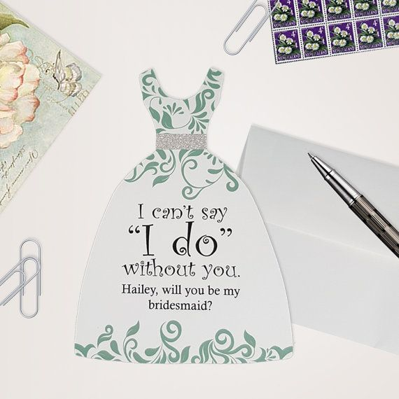 Will you be my bridesmaid card  Ask Bridesmaids by SKOPrints