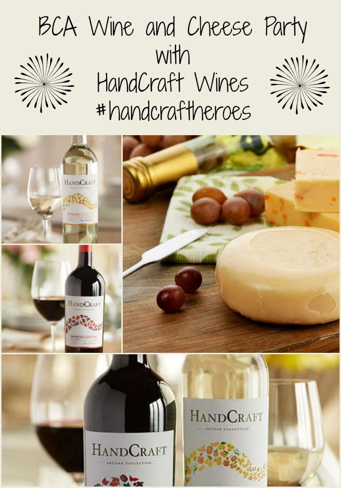 Have a #BCA Wine and Cheese Party to raise money for breast cancer research. Handcraft Wines has just announced their new campaign, #handcraftheroes . Please support this wonderful cause and find your inspiration!