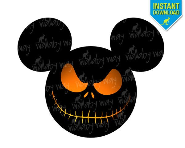 Jack Skellington Disney Printable Iron On Transfer or Use as Clip Art DIY Nightmare Before Christmas Shirt - Halloween Mickey Head Download by TheWallabyWay on Etsy https://www.etsy.com/listing/204279045/jack-skellington-disney-printable-iron