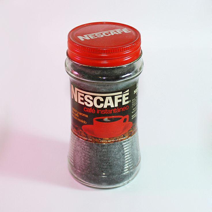 Frasco de café instantáneo Nescafé, década del '70