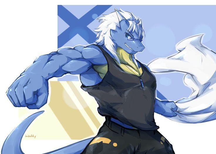 E621 Anthro Biceps Chesttuft Clothing Fur Male Mammal