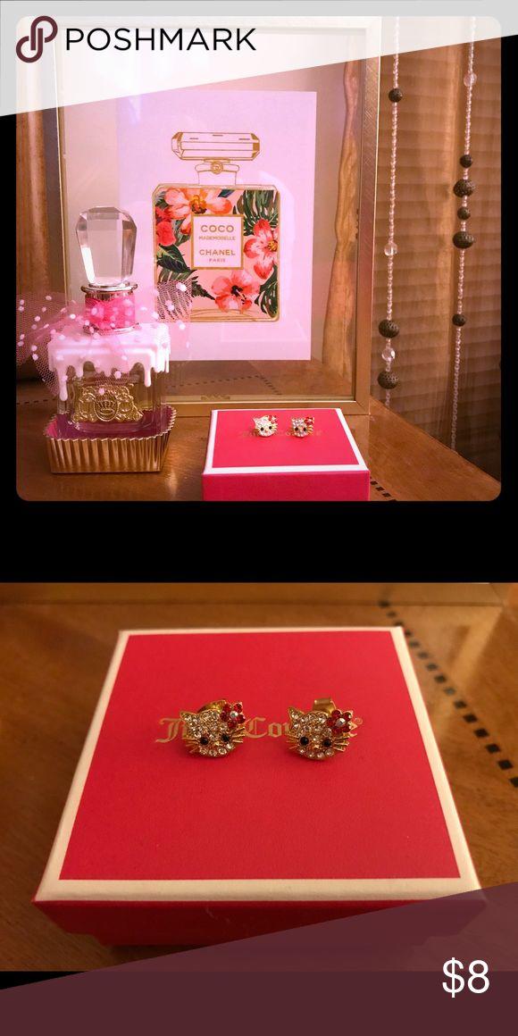 🐱Hello Kitty Rhinestone Earrings🐱 💎Beautiful Bling Hello Kitty Earrings💎 Great for a little princess. Earring about the size of a dime. Hello Kitty Jewelry Earrings