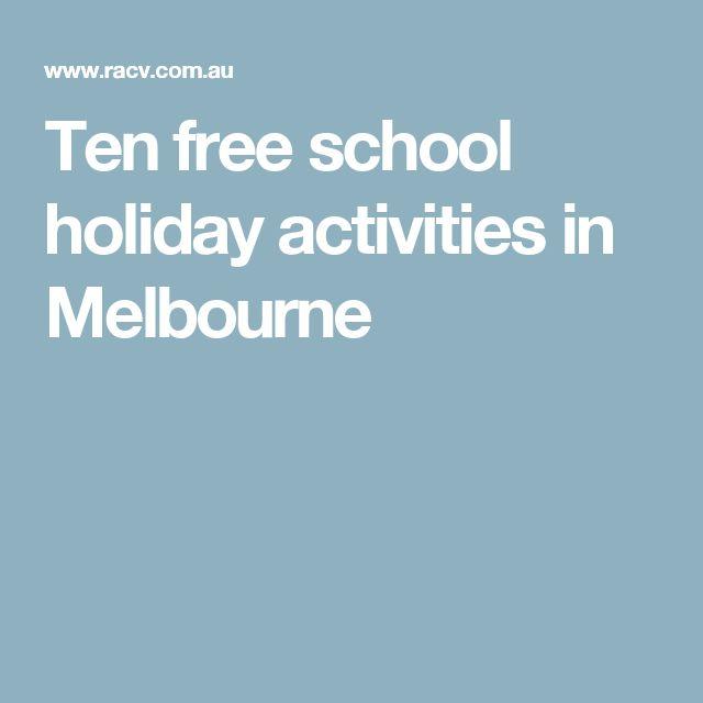 Ten free school holiday activities in Melbourne