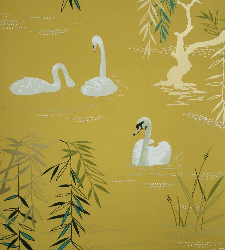 Swan Lake Wallpaper by Nina Campbell | Jane Clayton