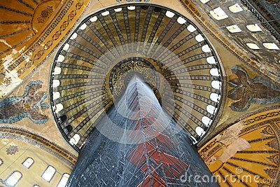 Scaffolding in Hagia Sophia mosque