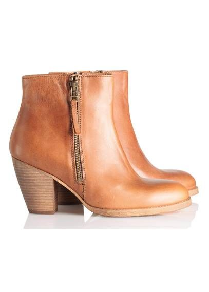 Bottines cuir COGNAC by LA FEE MARABOUTEE