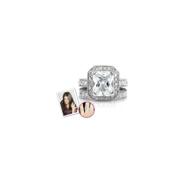 Emitations Khloe Kardashian Inspired Wedding Ring Set: Khloe Kardashia ❤ liked on Polyvore
