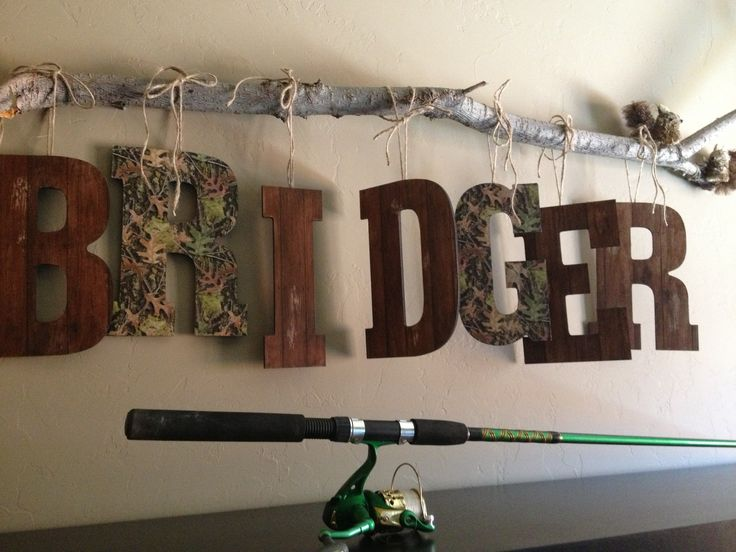 want to do this for hunters camo room, looks boyish instead of bows