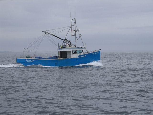 Fishing boat on a grey ocean ocean pinterest for Ocean fishing boats