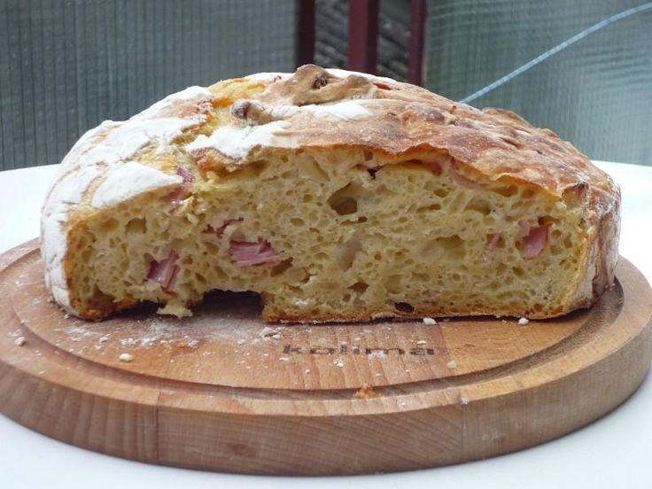 chleba s vůní hořčice, šunky a cibule2