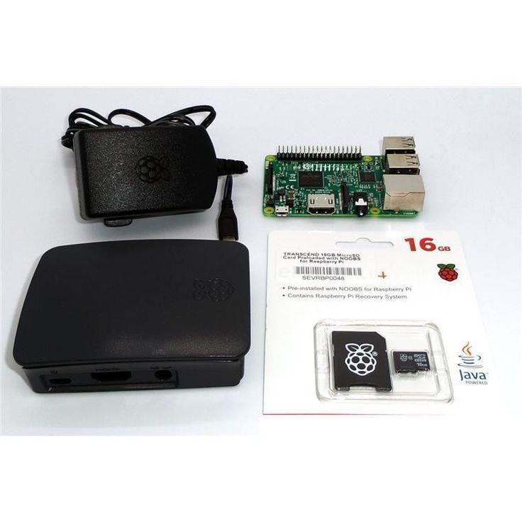 pbtech.co.nz Raspberry Pi 3 Model B Kit with OS (16GB SD Card) (Includes Raspberry Pi 3 Mainboard, 2.5A Adapter, Official Pi 3 Black & Grey Enclosure, Official 16GB NOOBS SD Card)