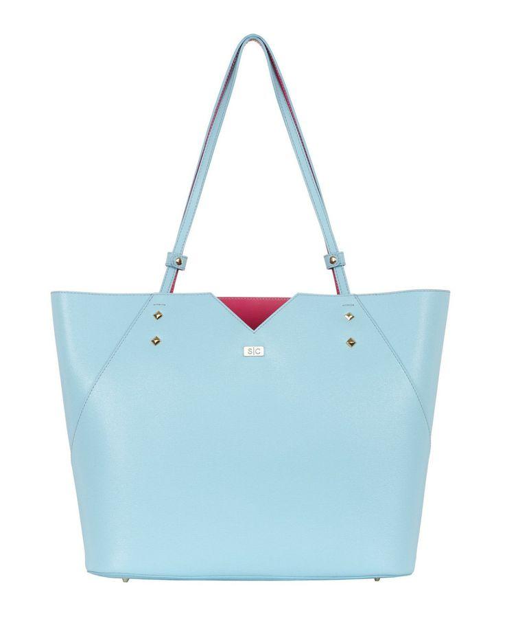 Light Blue Tote Bag Handbag