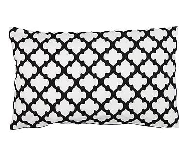 Coussin BAZAR, noir et blanc - 50*30