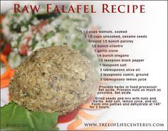 73 best raw food recipes images on pinterest raw food recipes raw raw falafel recipe healthy diabetic recipesraw vegan forumfinder Images