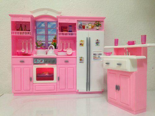 Barbie Dolls Hello Dreamhouse Dollhouse W Kitchen: Barbie Size Dollhouse Furniture- Gloria Kitchen Play Set