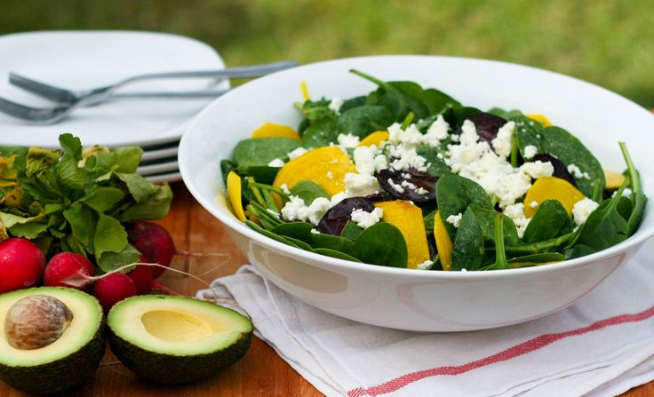 Baby Spinach, Golden Beet & Feta Salad