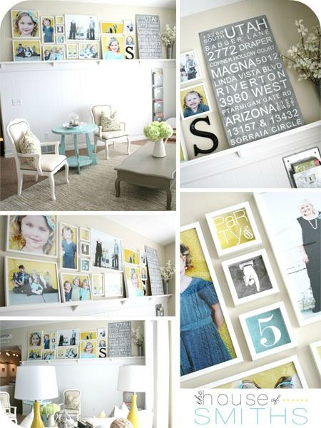 House of Smiths ~Art/Photo gallery wall ideas