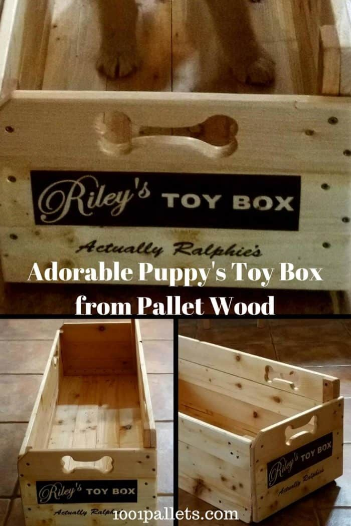 Riley Ralphie S Pallet Wood Puppy Toy Box Toy Boxes Wood Pallets Toy Puppies
