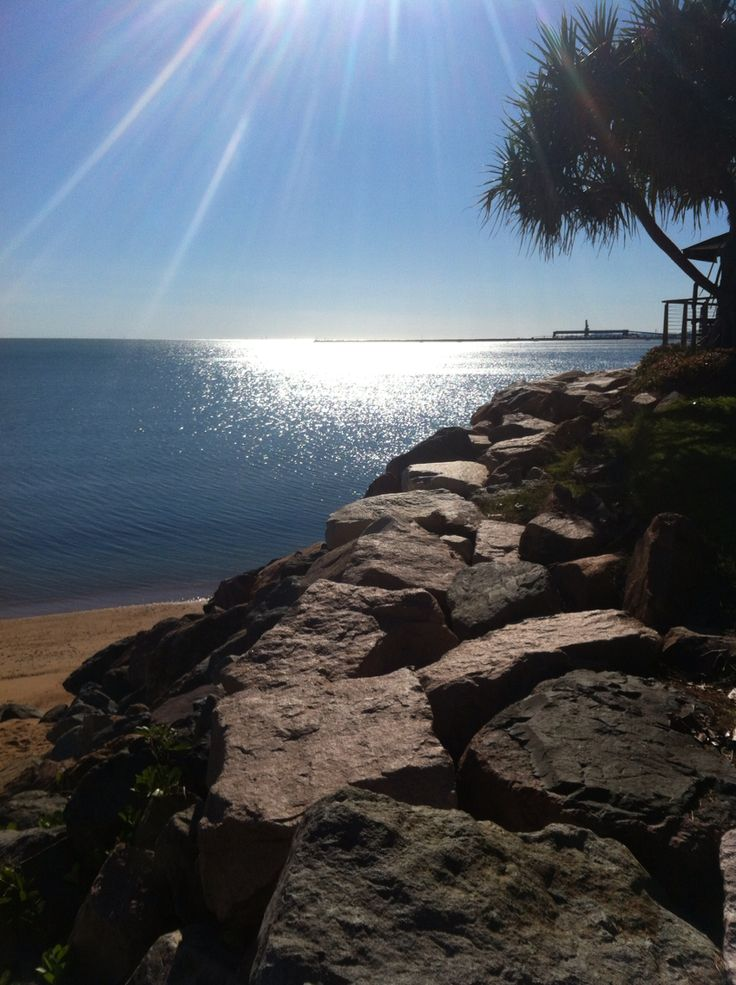 Suns Reflection - Townsville, QLD, Australia - beach, water, reflection, peaceful
