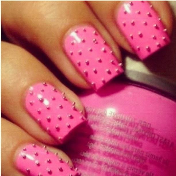 Amazing stud #nails