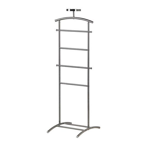 GRUNDTAL Valet stand, stainless steel