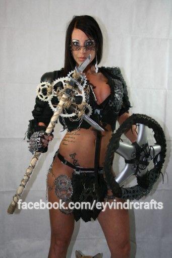 Postapocalypse warrior woman