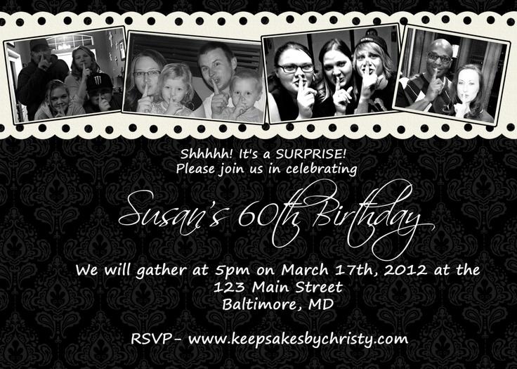 49 best Cards \ Invitations images on Pinterest Birthdays - sample invitation wording for 60th birthday