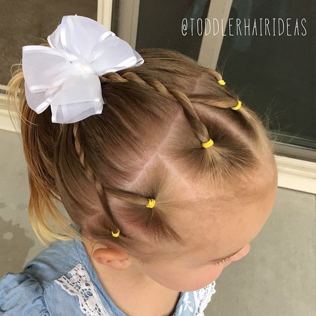 """172 Likes, 13 Comments - Cami  Toddler Hair Ideas (@toddlerhairideas) on Instagram: """"Today I did 6 ponies along the hair line, then I did 3 rope twists by combining 2 ponies for each…"""""""