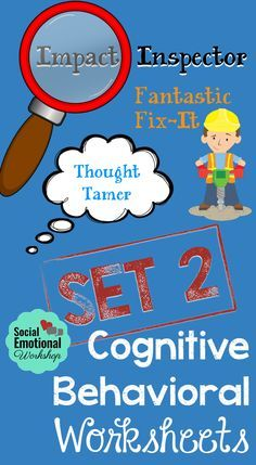 The included CBT Maps can help students break down their thoughts, feelings, and behavior. Over 30 pages of resources. Social Emotional Workshop