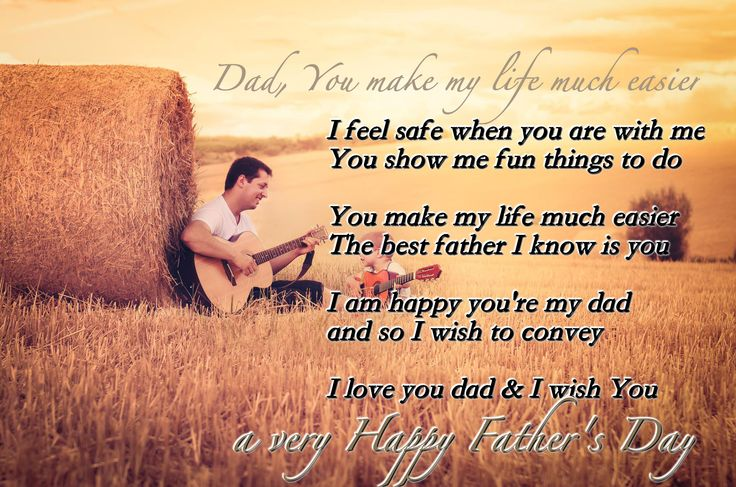 Father's Day Poems with Image-Short Picture Poems in English