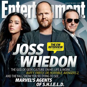 Marvel's Agents of S.H.I.E.L.D. EW Magazine Cover -- Creator Joss Whedon graces this week's issue alongside Clark Gregg and Chloe Bennet, stars of this highly-anticipated ABC series. -- http://wtch.it/6hvu6